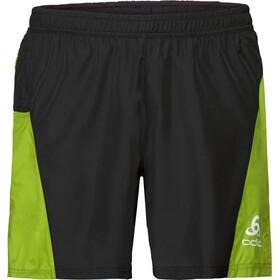 Odlo Omnius Shorts Men with Inner Brief black-acid lime